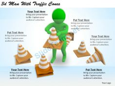 1113 3D Man with Traffic Cones Ppt Graphics Icons Powerpoint #Powerpoint #Templates #Infographics