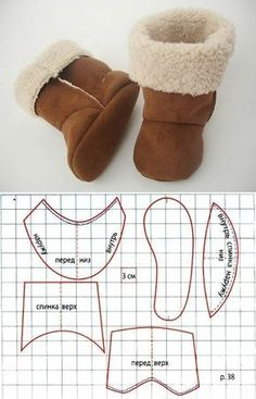 Handmade Dolls Patterns, Doll Shoe Patterns, Baby Shoes Pattern, Baby Dress Patterns, Sewing Doll Clothes, Sewing Dolls, Girl Doll Clothes, Felt Baby Shoes, Crochet Baby Shoes