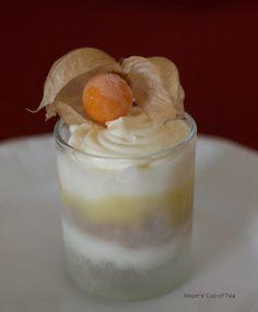 Key lime mousse with cape gooseberry