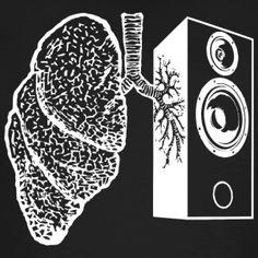 głośnik płuc - Ekologiczna koszulka męska