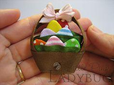 Easter basket bow