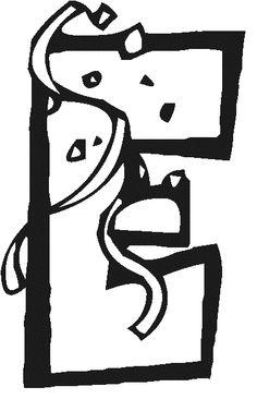 * Laat de letters van FEEST kleuren en hang ze op boven bv. de feesttafel!  Deze letter 2x uitprinten! 2-4