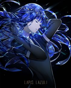 Find images and videos about anime, lapis lazuli and houseki no kuni on We Heart It - the app to get lost in what you love. Manga Anime, Anime Art, Character Art, Character Design, Anime Life, Blue Hair, Vocaloid, Images, Fan Art