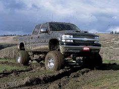 nothing like a lifted, muddy chevy truck:)