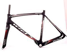 Road Bike Frames - Wiel Carbon Roadracing Bike Frame  Full Carbon Fibrematte blackred 520mm B111 -- Want additional info? Click on the image.