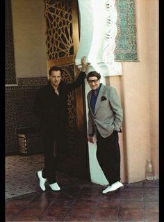 Fabrice Thomas et Yves Saint Laurent à Marrakech au début des années 90