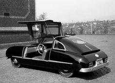 Karrosserie auf Chassis BMW 2500, Entwurf und eigenhändige Ausführung Herbert Gomolzig, ca. 1951, ©werner hense