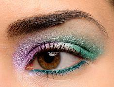 Make Up For Ever #52 Aqua Cream Review, Photos, Swatches Yellow Eye Makeup, Red Makeup, Colorful Eye Makeup, Makeup Looks, Beauty Skin, Beauty Makeup, Holographic Eyeshadow, Aqua Eyes, Makeup Inspiration
