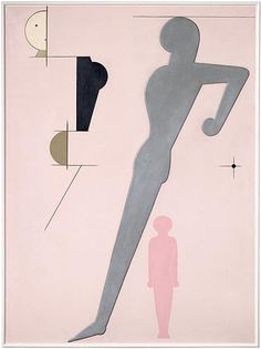 Oskar Schlemmer, Pink Composition, 1930 by kraftgenie, via Flickr
