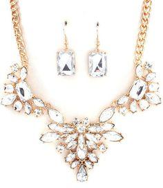 Brilliant Blooms Jewel Statement Necklace - $24