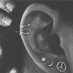 Piercings helix de flecha