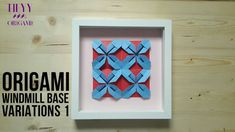 How to make origami windmill base variations, you may use those for wall decoration Origami Windmill, How To Make Origami, Paper Folding, Wall Decor, Base, Make It Yourself, Creative, Youtube, Videos