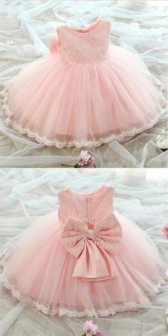 Lovely Pink Scoop Neckline Zipper Up Lace Top Ball Gown For Flower Girl Dresses Baby Girl Dresses Ball Dresses Flower girl Gown Lace lovely Neckline pink Scoop Top Zipper Baby Girl Birthday Dress, Birthday Dresses, Baby Girl Pink Dress, Toddler Flower Girl Dresses, Little Girl Dresses, Toddler Dress, Toddler Girls, Ball Dresses, Ball Gowns