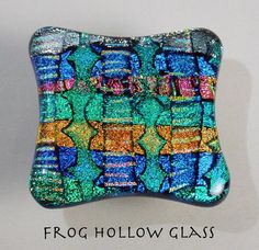 Dichroic Fused Glass Cabinet Knob Drawer Pull by FrogHollowGlass, $32.00