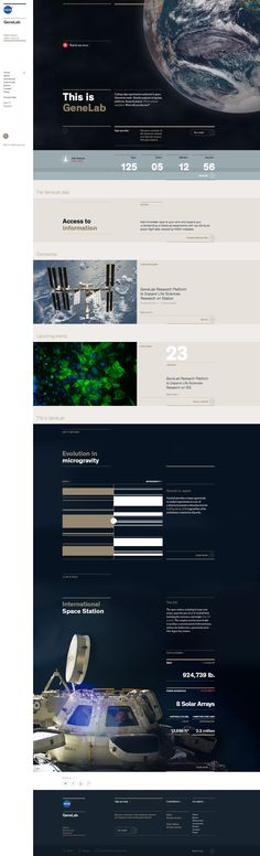 Brand platform site for NASA GeneLabThe mission of NASA GeneLab is relatively simple: conduct research in space, explore the molecular response of terrestrial biology to microgravity, uncover findings that push back the frontiers of understanding on Ear…
