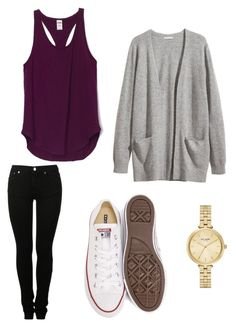 """Yep"" by loganpixie248 ❤ liked on Polyvore featuring H&M, Converse, MM6 Maison Margiela and Kate Spade"