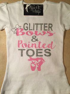 Ballerina Shirt Ballerina Design Princess by SteppinOutBoutique13