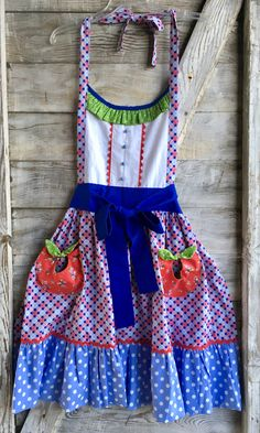 Scrappy Blues Apron