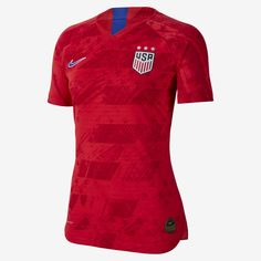 Nike Women's Usa National Team Women's World Cup Away Jersey - Red Usa National Team, World Cup Jerseys, Jersey Atletico Madrid, Fifa Women's World Cup, Soccer Shirts, Soccer Jerseys, Online Gratis, Sports Fan Shop, Jersey Shirt