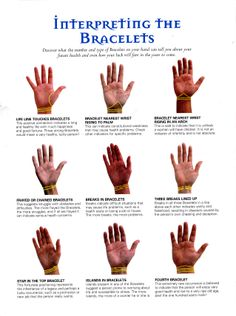 Divination: #Palmistry ~ Interpreting the Bracelets.
