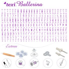 Texi Ballerina - Computerized sewing machine, 200 stitch programs and extras.