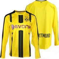 Borussia Dortmund 16-17 Cheap Long Sleeve Home Soccer Jersey