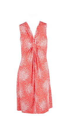 Robe  large bretelle ,plis creux devant ,imprimé esprit pois CHARLISE CORAIL,vendue sur www.depechmod.fr 39.9€