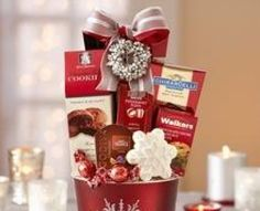 Gift Baskets Ideas for the Holidays -- Gift baskets ready to go featuring collections for the office, friends, family and that special person this holiday season.