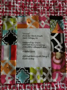 Adding a quilt label is an necessary step in finishing a quilt.  Labeling a quilt will provide important information for you and future owners of the quilt. How to Make a Quilt Label provides several easy ways to label your quilts.
