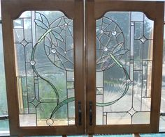 Custom Made Dragonfly Cabinet Doors Designed And Crafted By on Best Door Photos Collection 9013 Stained Glass Cabinets, Stained Glass Door, Custom Stained Glass, Cabinet Door Designs, Glass Cabinet Doors, Cabinet Ideas, Glass Doors, Mosaic Glass, Glass Art