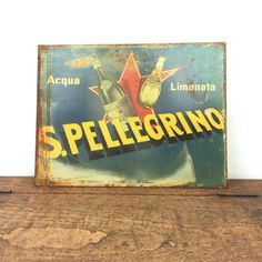vintage metal advertising sign by GilbertandCrick on Etsy
