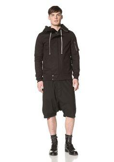 Rick Owens DRKSHDW Men's Parka Jacket (Combo Black) | Fancy Central