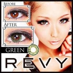 REVY(レヴィ)カラコンの装着画像&口コミ[茶色/灰色/青色/緑色/紫色]   REVY(レヴィ)カラコン激安通販GLAM![口コミ/お得クーポン]