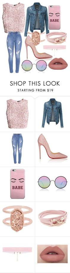 """Untitled #99"" by sydneyoo on Polyvore featuring LE3NO, Christian Louboutin, Sunday Somewhere, Kendra Scott and Salvatore Ferragamo"