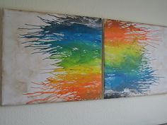 Another take on Melted Crayon Canvas