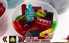 Make your own LEGO gummy candy and savor the delicious nostalgia How To Make Gelatin, Lego Candy, Youtube How To Make, Jell O, Corn Syrup, Easy Desserts, Make Your Own, Good Food, Fun Food