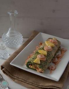 Rollo de espinacas y gambas | Cocinar en casa es facilisimo.com