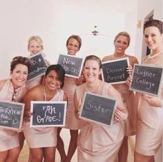 Where you first met your bridesmaids wedding photo
