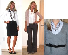Ways to wear a statement necklace - several different necklines shown if you click through