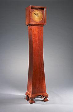 Bubinga Floor Clock from Hubel Handcrafted Interiors Craftsman Clocks, Craftsman Furniture, Craftsman Style, Handmade Furniture, Custom Furniture, Furniture Ideas, Novelty Clocks, Traditional Clocks, Small Wooden Boxes