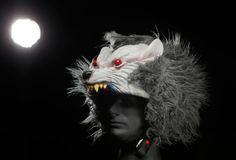 scary Wolf Helmets Wolf Helmet, Scary Wolf, Helmet Covers, Halloween Masks, Werewolf, Helmets, Diy, Hard Hats, Bricolage