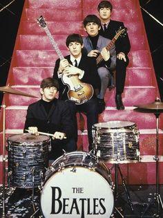The Beatles en escalera