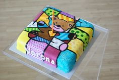Britto inspired birthday cake by Creative Crumbs