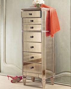 """Amelie"" Mirrored Lingerie Chest - Horchow"