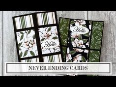 Endless Folding Card Tutorial (Never Ending Card) - Bing video Card Making Supplies, Card Making Tutorials, Card Making Techniques, Making Ideas, Video Tutorials, Joy Fold Card, Fancy Fold Cards, Folded Cards, Infinity Card