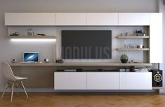 Superior inspiring ideas to look out for Desk Wall Unit, Living Room Wall Units, Living Room Tv Unit Designs, Home Room Design, Home Office Design, Home Office Decor, Home Interior Design, Muebles Living, Tv Wall Design