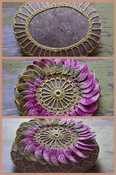 Crochet rock, stone doily cover. Inspiration.