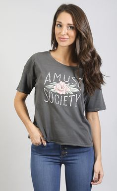 ONLINE EXCLUSIVE amuse society: lotus lady short sleeve t shirt