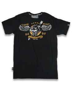 Liquor Brand Herren PANTHER WINGS T-Shirts.Biker,Oldschool,Custom,Tattoo Style