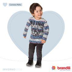 Tendência de moda infantil para o inverno 2016 das crianças. #temqueter #lookbrandili